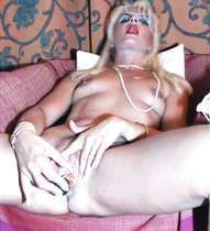 Anal and cunt with my lascivious sex toys for Coco the blond floozy