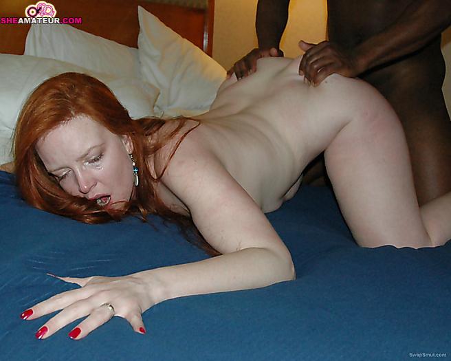 Wife interracial redhead