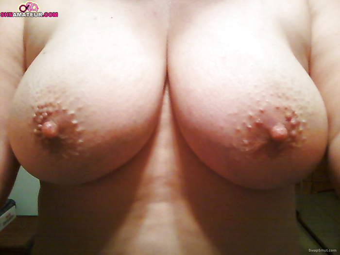 My wife showing off her tits are