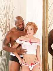 Wife getting some big black cock! Amateur Interracial Porn