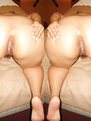 Mexican huge ass brunette displaying her tempting body