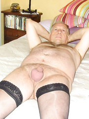 Mature male likes to dress as a sissy for everyone to see