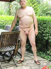 Nude mature amateur male self shots inside and outside