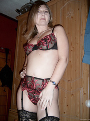 my horny wife jan posing in sexy lingerie