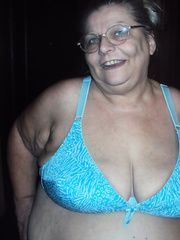 new pics 6 showing off bbw shiny blue panties