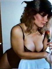 Casey in lingerie