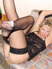 sexy milf in black stockings