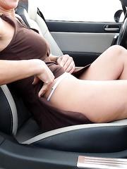 naked in my car