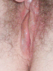 Wife Leslie's Hairy Pussy