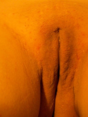 my wifes shaved pussy