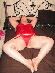 My slut in red