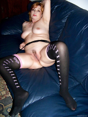 Horny milf housewife waiting in lingery for her fuck buddy