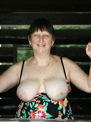Roberta flashing, flaunting and fucking all shapes, sizes and colors