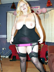 Randy Rachel having fun about the house showing it all
