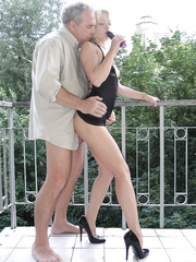 Escort girls having fun with punters at apartment and home office