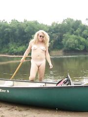 Emma at the river