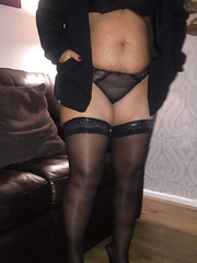 Hot wife Abby in fotos containing nylons heels muff sex-toys and some old pictures