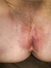 My cum-hole moist and willing for a large wang to fill me up