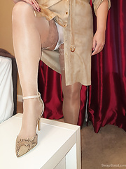 My underware,strapon nylons,ding-dong and heels by request of a ally with a very serious fetish