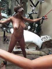 My doxy wife being used by her slaver boss
