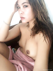 Super Hot Selfies of my Oriental Wife For Your Jerking Enjoyment two