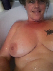 Susan uk hirsute mother i'd like to fuck showing off her biggest slit and cumbrous older large udders