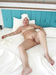 Lascivious aged white mother i'd like to fuck in vacation posing in hotel room