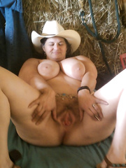 Wench bitch wife on the farm giving rides to any ready cowboy