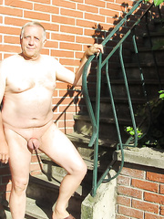 Undressed older MALE showing for your fun and for sharing with your allies