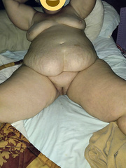 56 year old wife showing off her large a-hole and bald snatch and biggest bumpers