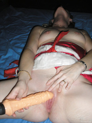 Wet wife photographed using carrot vibe and bottle masturbating