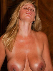 BLONDE MATURE WHORE FUCKED BY BLACK STUD AND HUSBAND