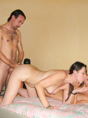 Swinger sex foursome wife getting shared with other men