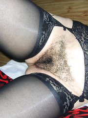 My hairy friend in black suspenders is eager to get fucked by men