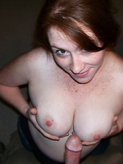 Freckled amateur wife loves milk on her face you like pregnant bitch