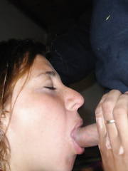 Latina bitch in lingerie sucking cock like a good girl does