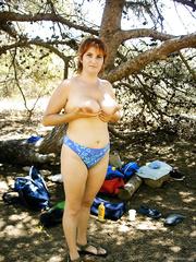 Nice weekend at a nudist beach enjoying the sun shining