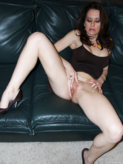 Wet pussy milf touching her cunt fingering engorged and tender
