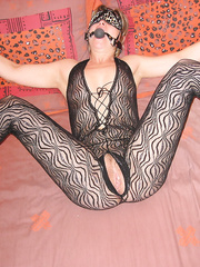 Tied up mature housewife ready for taking at any time