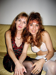 Two MILF get it on together and also with their husbands.