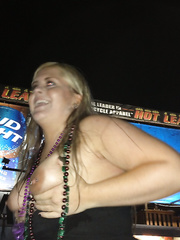 My wife flashing at the 2013 Sturgis biker rally
