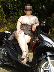 Naked on the street my wife pictures showing itself to all men admire