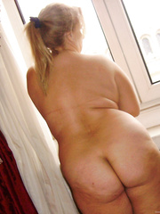 Wife before New Year's Eve meal with friends naked and wearing thong