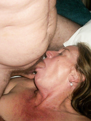 Mature very addicted to semen leaves her husband filled with milk