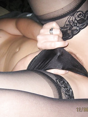 Sexy milf Helen showing off her hot body masturbating and sucking cock