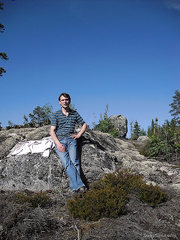 My wife take some hot photos of me in the nature