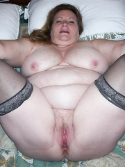 BBW Slut Wife Exposed Online for All To See Legs Apart