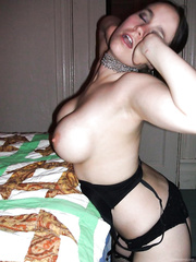 Hot bitch amateur cock sucker with dick rammed down her mouth
