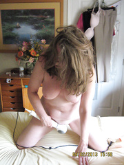 Sweet pussy doing her thing again masturbating with vibrator sex toy