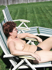 Warm weather backyard bikini photo opportunity outdoors in the sun